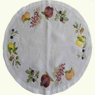 Hand embroidered round Placemats
