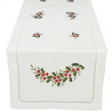Cotton Embroidered Table Runner 02
