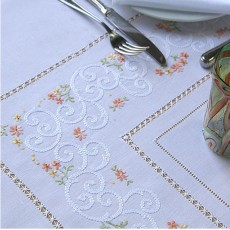 Calendule Hand Embroidered Tablecloths