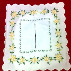 Embroidered Tissues Box Cover 01