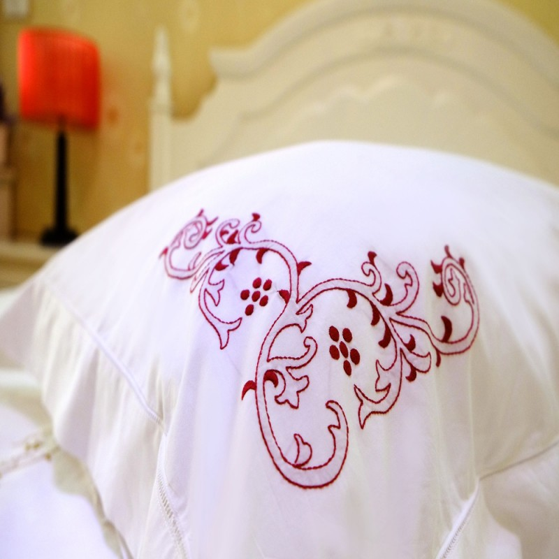 Bough Embroidered Sheet