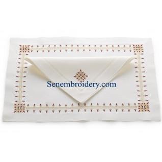 Bijoux embroidery napkins