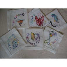 Embroidered napkins001