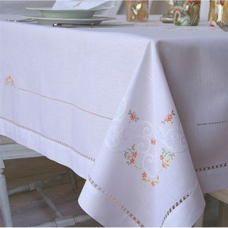 Hand-Embroidered Tablecloths